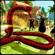 野生蟒蛇动物猎人